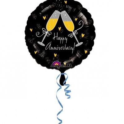 Balão happy aniversary 43cm