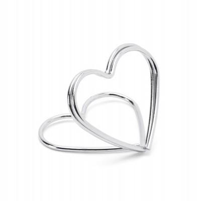 Suporte marcador coração prata