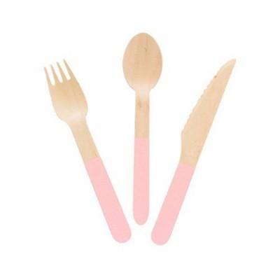 Talheres madeira rosa