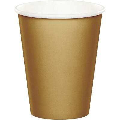 24 copos dourado