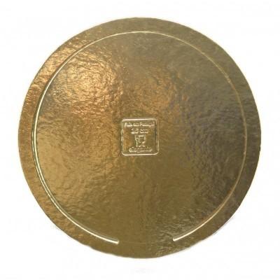 Disco redondo ouro elegante 30cm