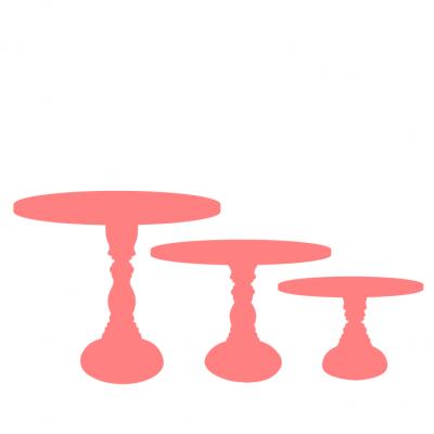Trio Bases de madeira Torneado