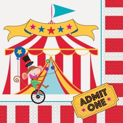16 Guardanapos Circo
