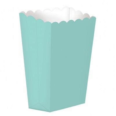 Caixas de pipocas verde menta