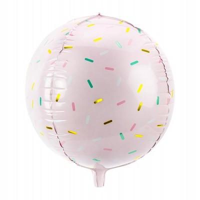 Balão bola confetti 40cm