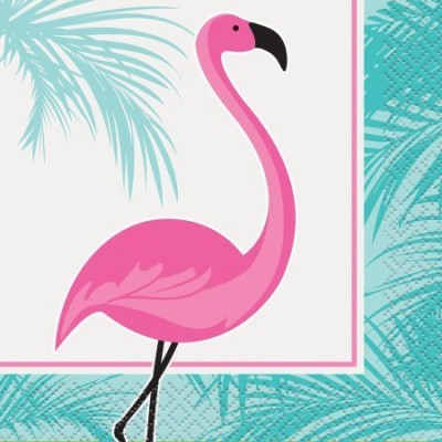 16 Guardanapos Flamingos