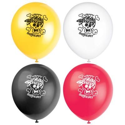 8 balões latex pirata