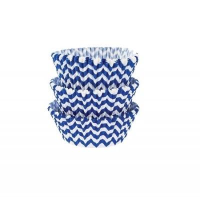 Forma Cupcake chevron azul