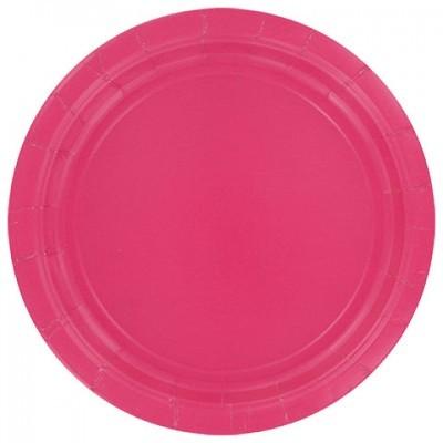 8 Pratos pratos rosa fushia