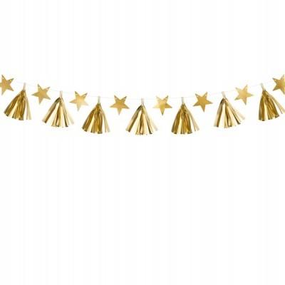 Grinalda tassel ouro