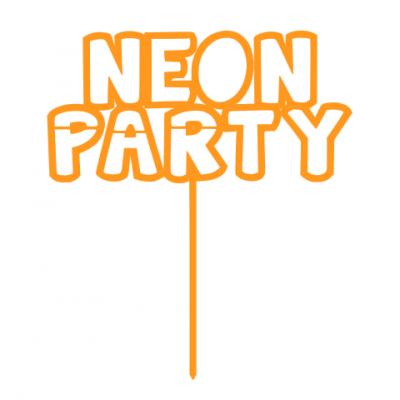 Topo de bolo Neon Party