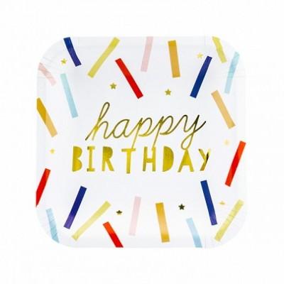 6 Pratos Happy Birthday
