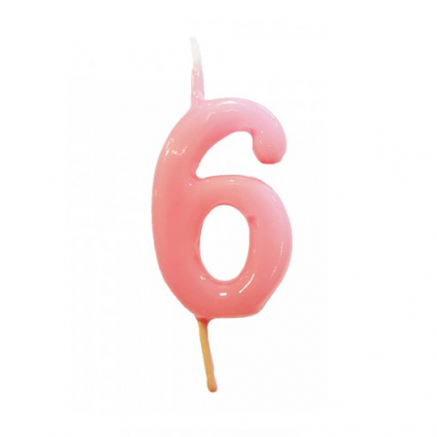 Vela Nº Rosa bebé -6cm