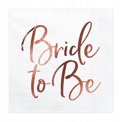 20 Guardanapos Bride to be