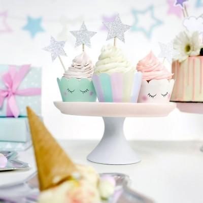 Cupcake wrapper - Unicorn x6