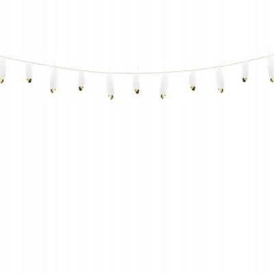 Grinalda de penas brancas