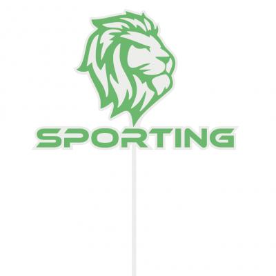 Topo de bolo Sporting