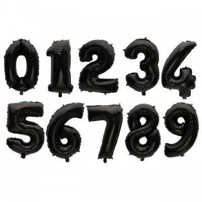 """Números 34"""" preto"""