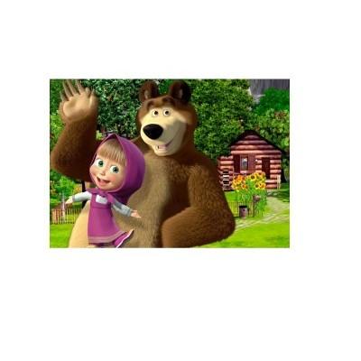 Impressão Masha e o urso