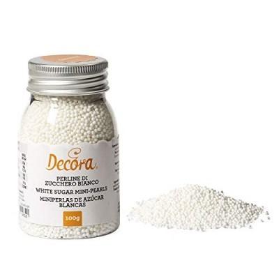 Mini pérolas de açúcar branco
