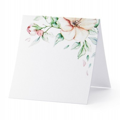 25 marcadores floral aguarela