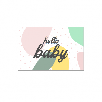 Postal Hello baby