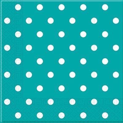 20 Guardanapos bolas azul turquesa