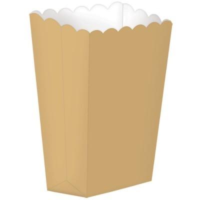 Caixas de pipocas dourado