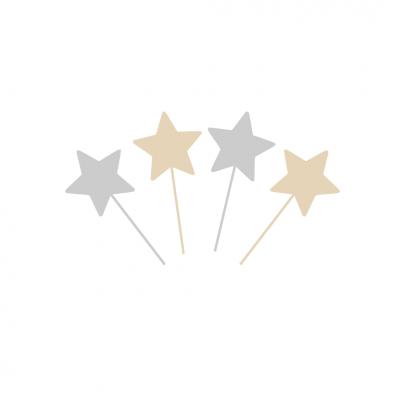 10 Topos Cupcake Estrelas ouro e prata