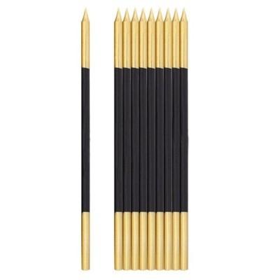 Vela alta preto/ouro