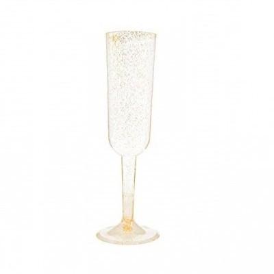 4 Copos champagne Ouro glitter