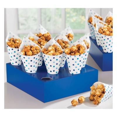 bandejas de cones azul
