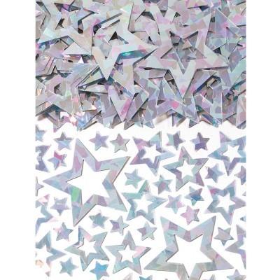 Confetti estrelas iridescente