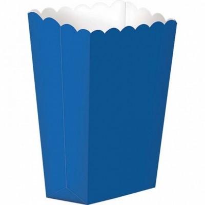 Caixas de pipocas azul cobalto