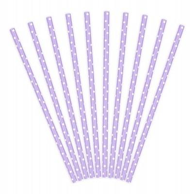 10 Palhinhas lilás