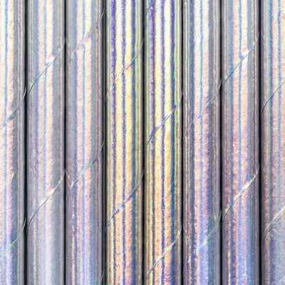 25 Palhinhas iridescente