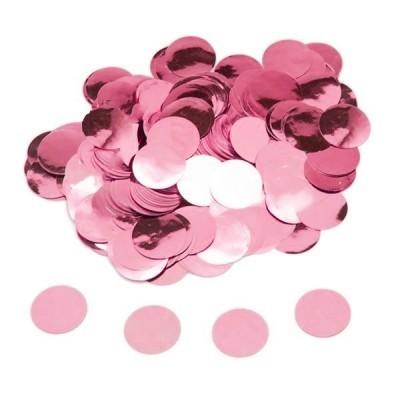 confetti circulo rosa