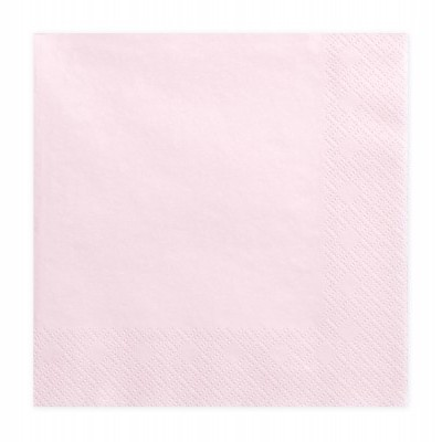 20 Guardanapos rosa