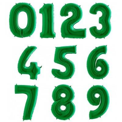 """Números 40"""" verde"""