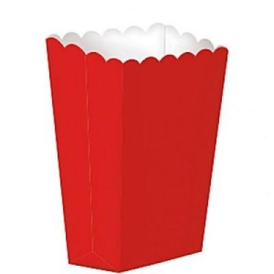 Caixas de pipocas vermelho