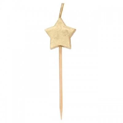 6 velas estrelas ouro