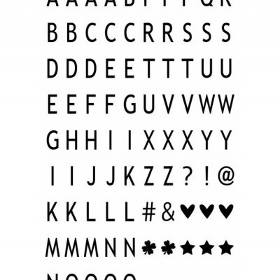 Conjunto de letras e símbolos