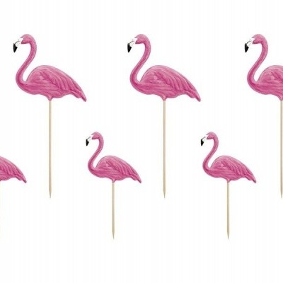 Toppers - flamingo x6