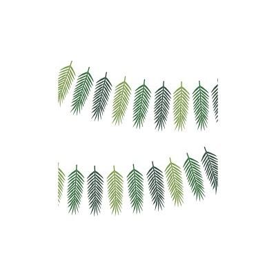 Grinalda folhas tropicais