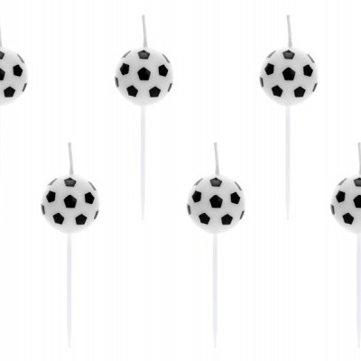 6 Velas Bolas de Futebol