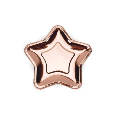 Prato estrela rose gold