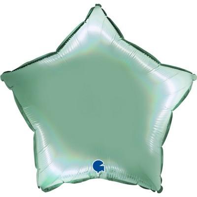 Balão estrela acetinado Verde