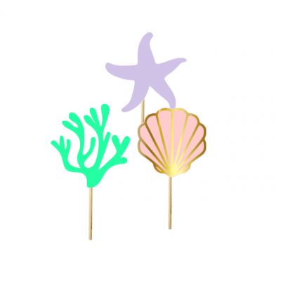 12 Cupcake toppers mar