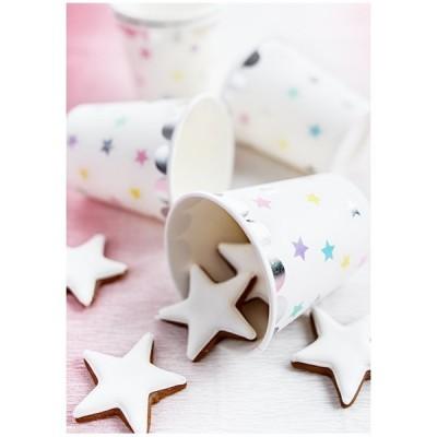 Copos estrelas unicórnio x6