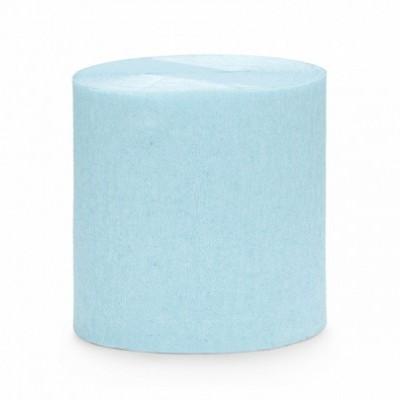 Serpentina de crepe - azul claro